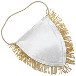 Pennant with gold fringes for sublimation - 25 pieces