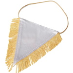 Triangular pennant with gold fringes for sublimation - 25 pieces