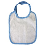 Baby bib for sublimation overprint with colorful frame - 5 pieces