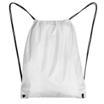 Sublimation drawstring bag with black string and white corners - 10 pieces