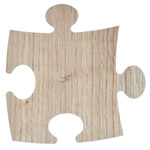 Oak wooden puzzle pad for printing - 5 pieces