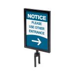 Black Barrier Flexi Belt Post Sign Holder A4