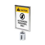 Chrome Barrier Flexi Belt Post Economy Sign Holder A4