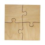 Wooden puzzles 4 elements (10 pieces)