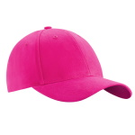 Peaked cap 6-panels with metal clip