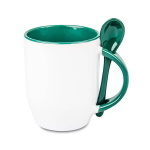 Mug for sublimation printout with spoon