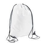 Sublimation drawstring bag with black string and black corners - 10 pieces