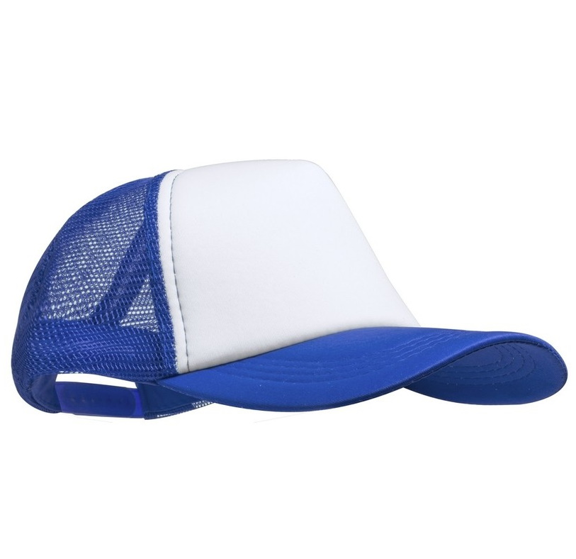 Cap with mesh back panels for sublimation
