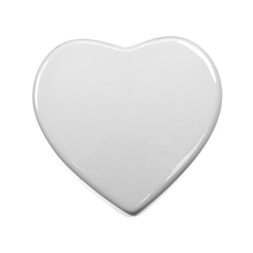 White tile for sublimation - heart