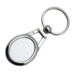 Metal oval keychain for sublimation