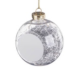 Transparent christmas bauble for sublimation - silver threads inside
