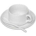 Cup with saucer for sublimation