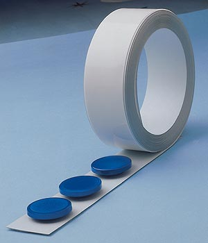 White strip on a roll for magnets 25 m (BP-626)