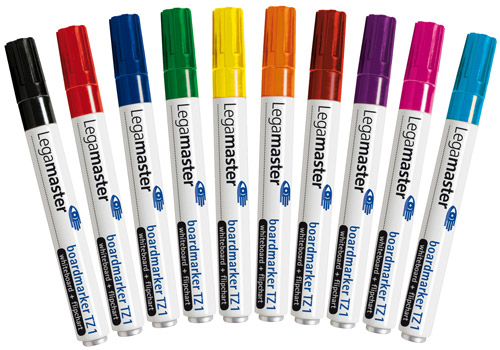 Set of 10 markers TZ1, assorted colours