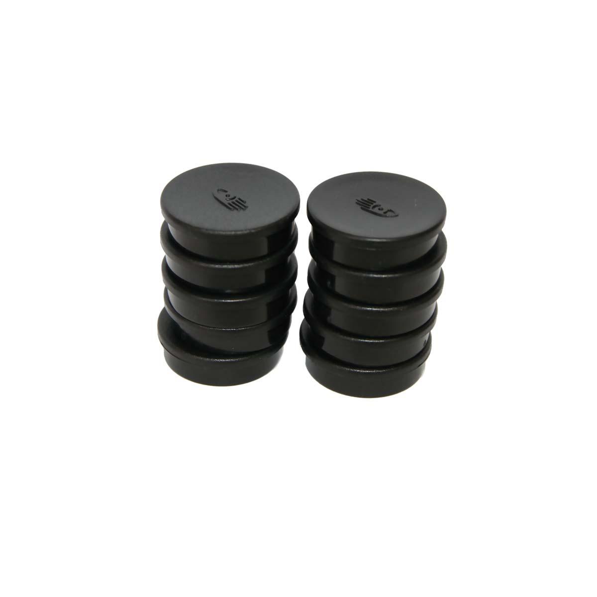 Black circle magnets