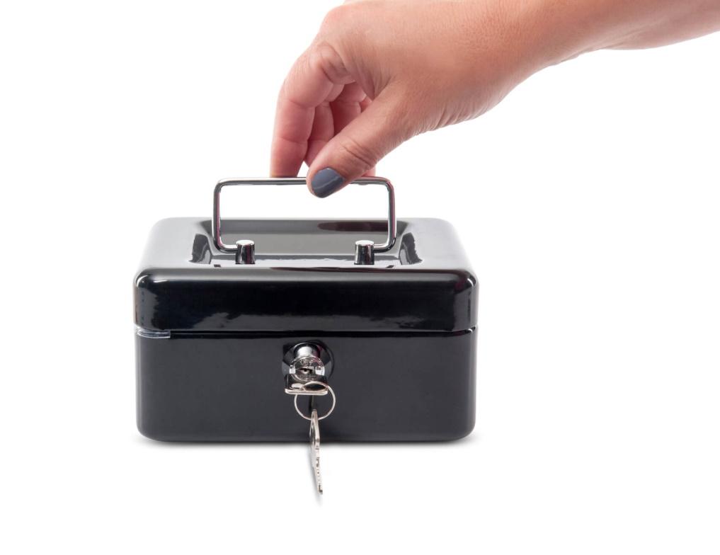 Cash box 15 x 12,5 x 8 cm black [561 01-90] (BS-46)