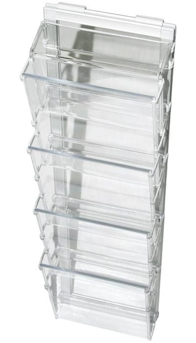 Leaflet holders in aluminium frame (4 x A5)