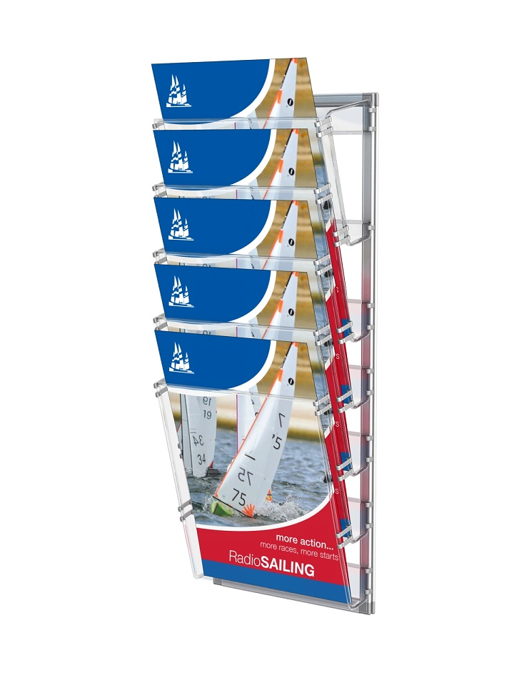 Leaflet holders in aluminium frame (5 x A4)