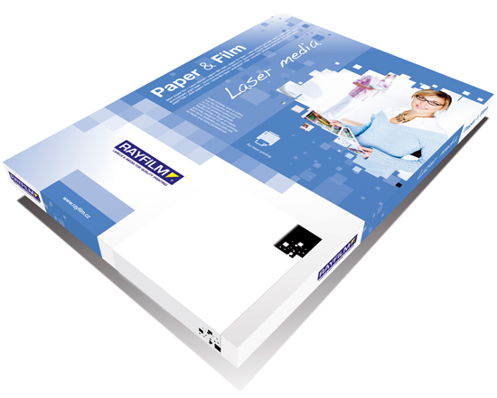 Double-sided paper for laser printers and copiers