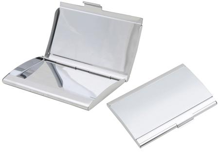 Business card case metallic