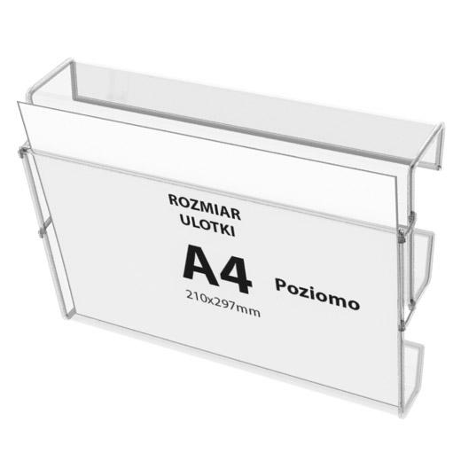 Leaflet holders in aluminium frame (4 x A4)