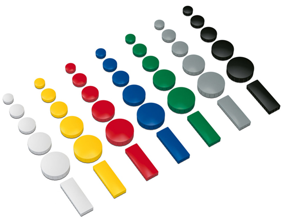 Yellow rectangular magnets