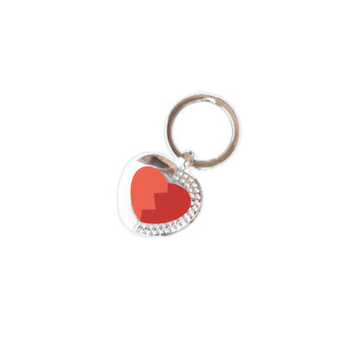 Key ring heart for sublimation
