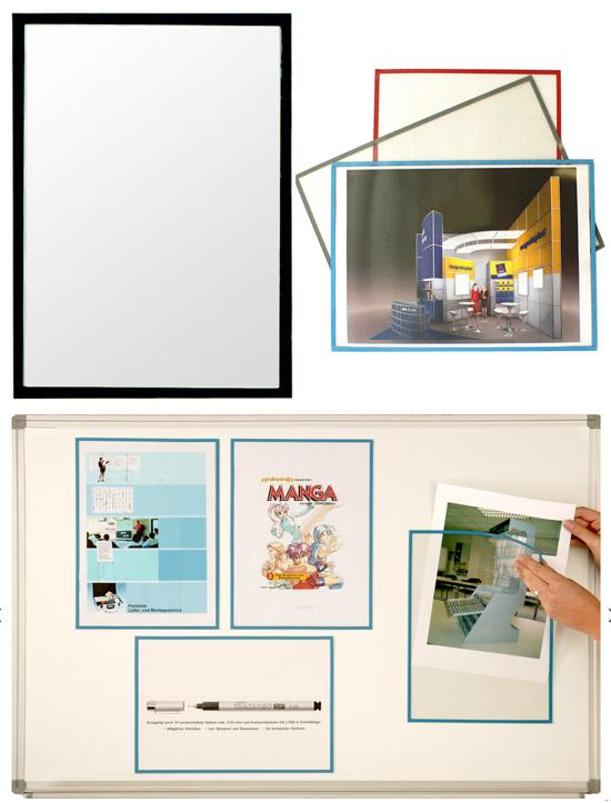 Magnetic pocket for document - 5 pcs