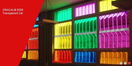 Transparent soft PVC film for Illuminated Graphics ORACAL 8300-052