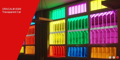 Transparent soft PVC film for Illuminated Graphics ORACAL 8300-077
