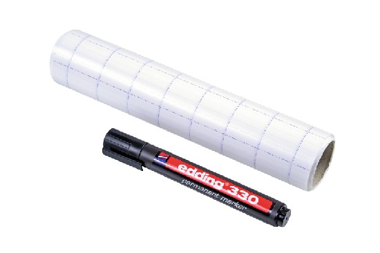 Magic Chart fully gridded - self-adhesive flipchart, not dry-wipe film with marker