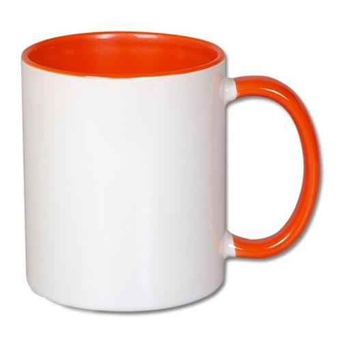 Inside and handle color sublimation mug