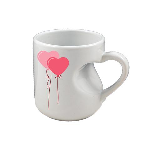 Sublimation mug with heart shape handle