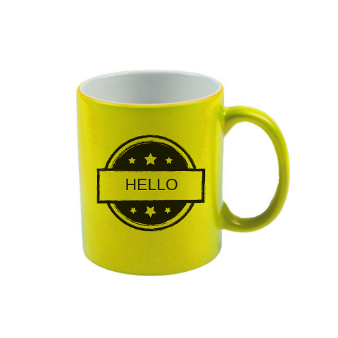 Neon mug for sublimation