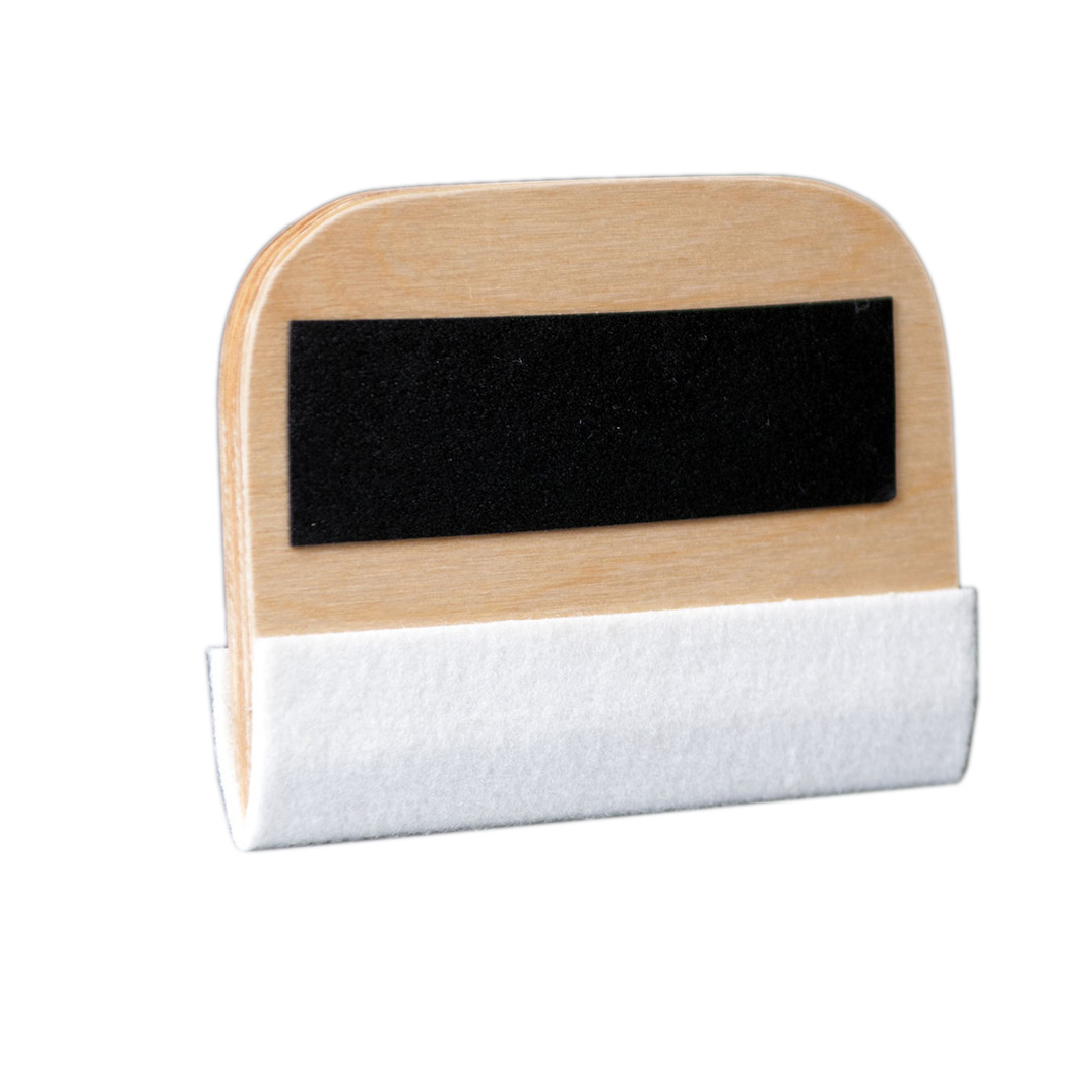 Wooden squeegee with felt 14cm