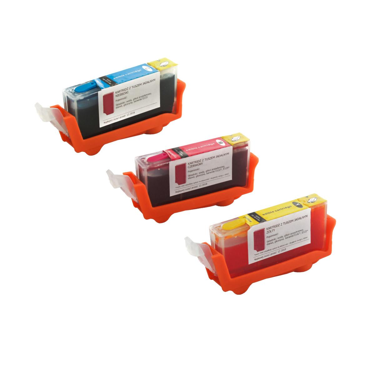 Set of edible cartridges Canon CLI 551 CMY