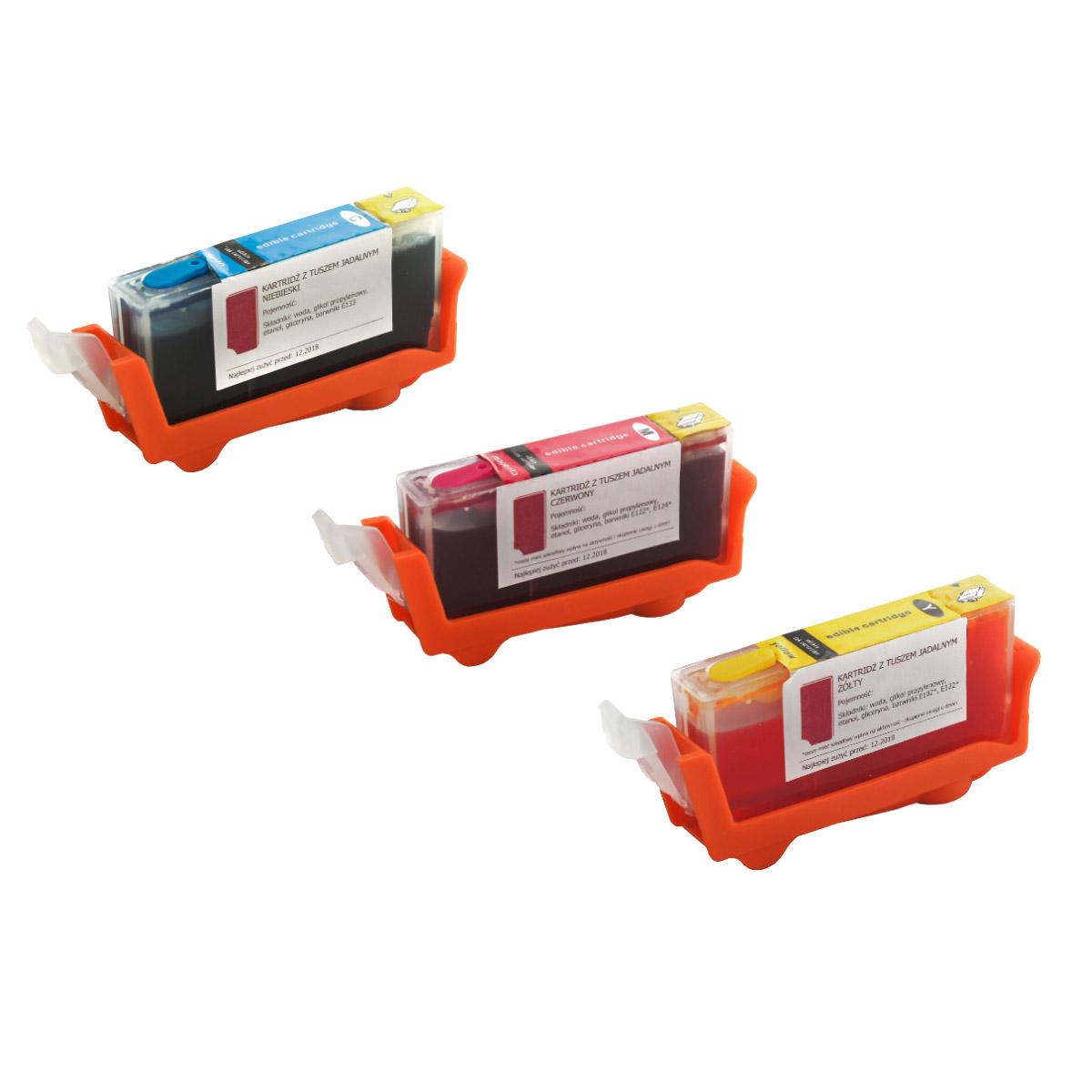 Set of edible cartridges Canon CLI 526 CMY