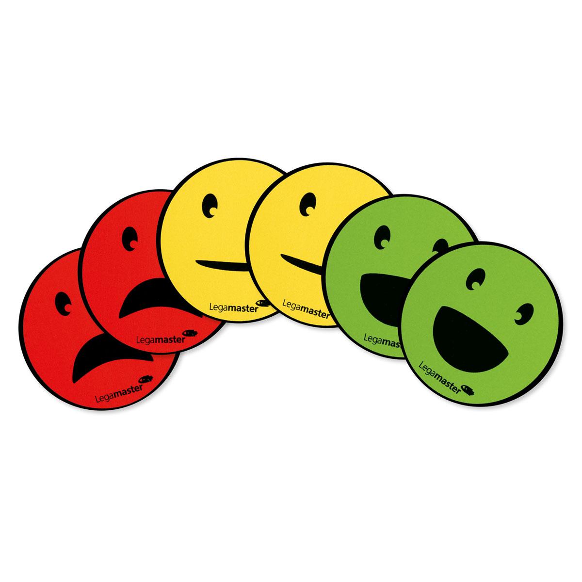Round magnets - faces: neutral, smile, sad