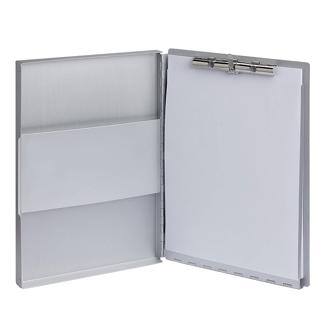 Aluminium clipboard MAULassist with storage box