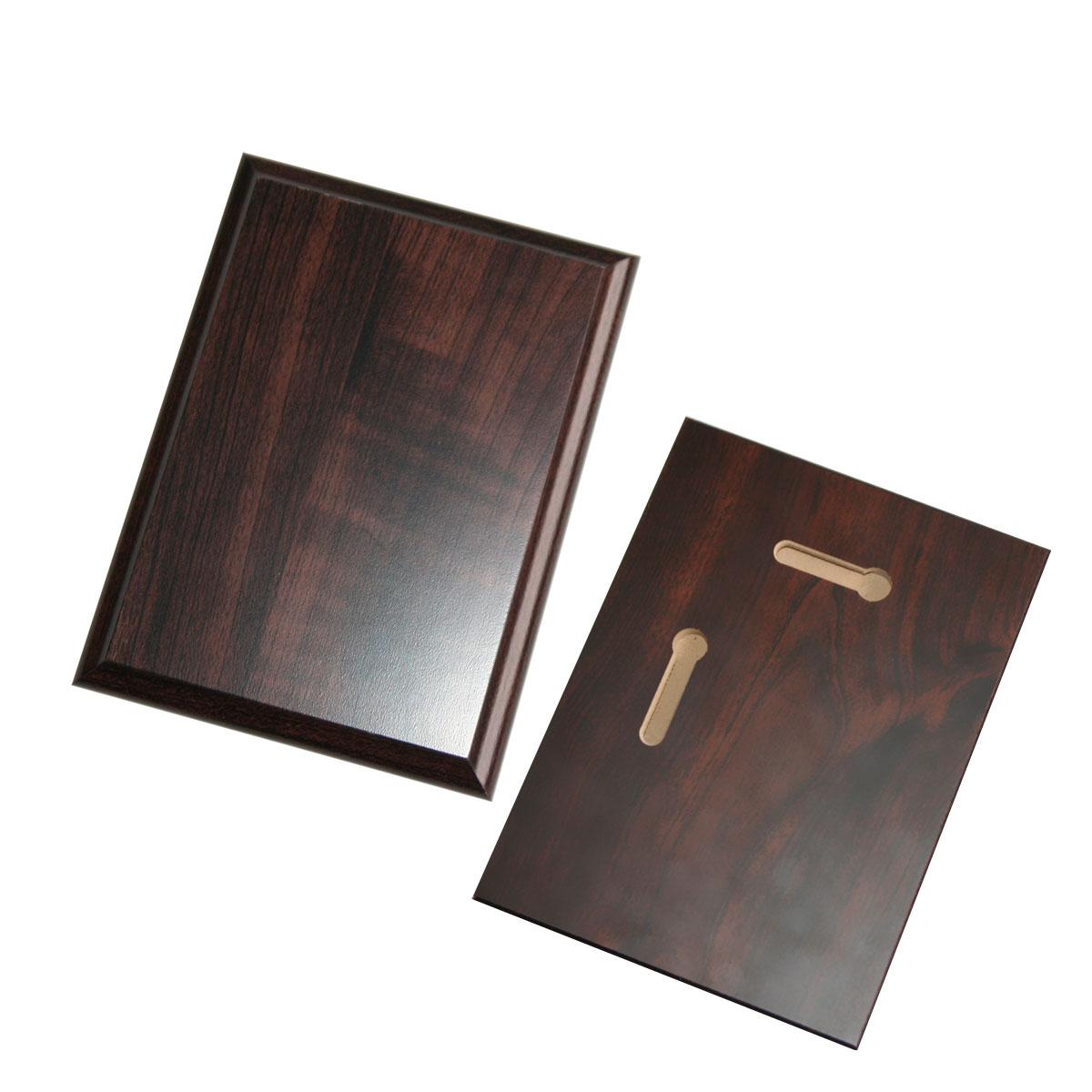 Wood base for metal for sublimation overprint