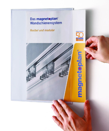 Magnetic pocket for document