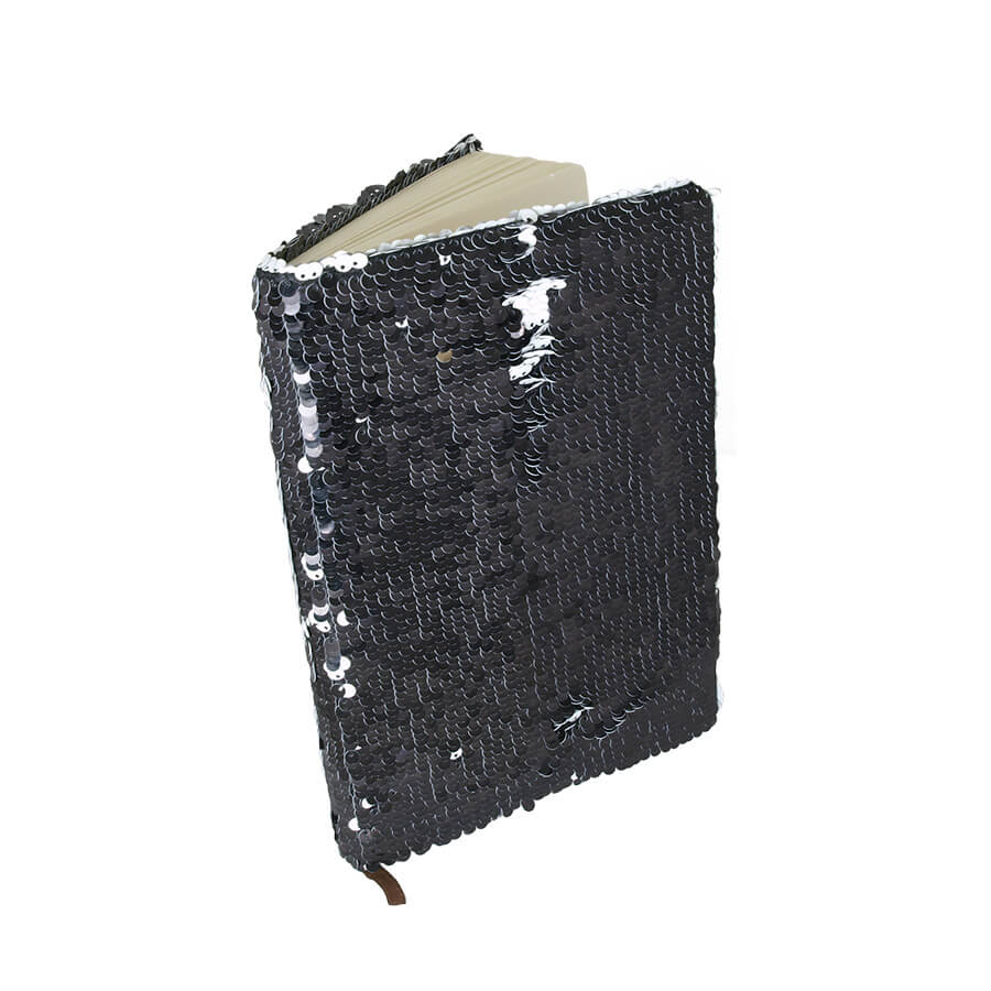 Notebook - diary with two-color thermo sequins for sublimation cover