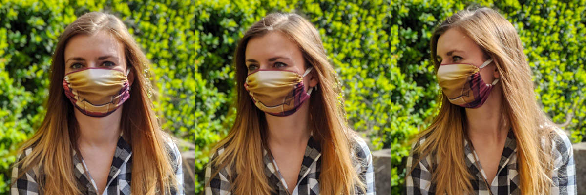 Two-layer face protection mask for sublimation - 5 pieces