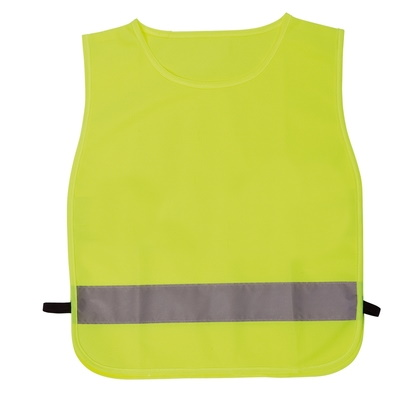 Yellow, reflective vest - for kids