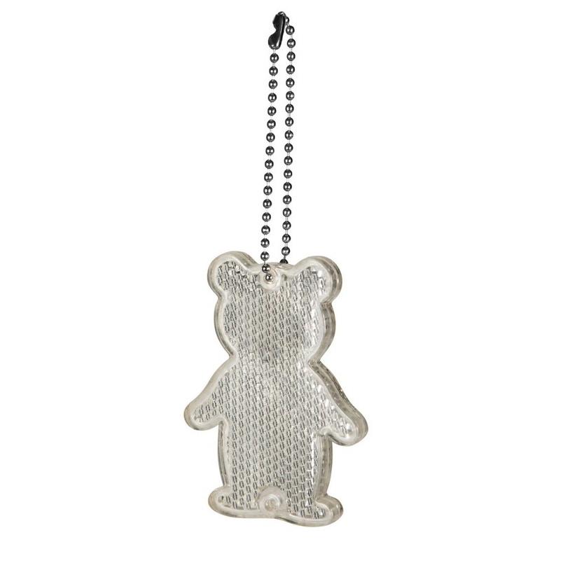 Reflective keyring - bear