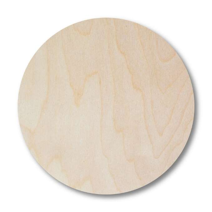 Round wooden pad to print - 10 pieces