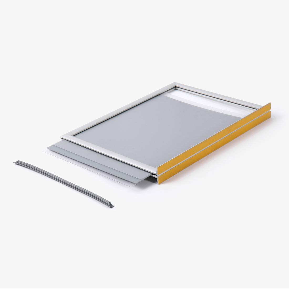 Free-standing double-sided poster frame