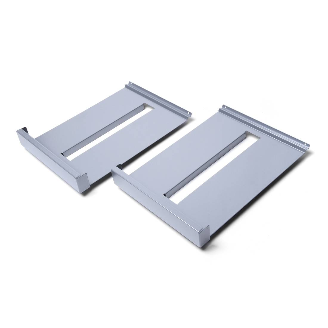 Set of metal shelves for BRT leaflet holder exhibition and wall-mounted BRW leaflet rack - 2 pieces