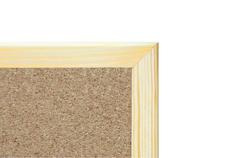 cork board dimension 80 x 100 cm type of frame wooden