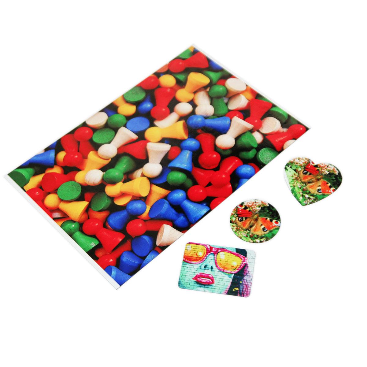 Fridge magnet for sublimation - heart - 25 pieces